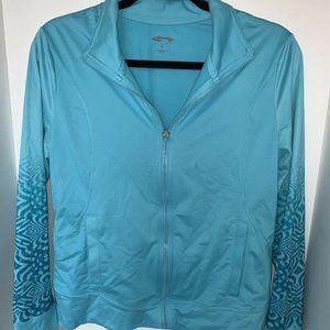 Cascade Teal Blue Women Athletic Jacket full zip
